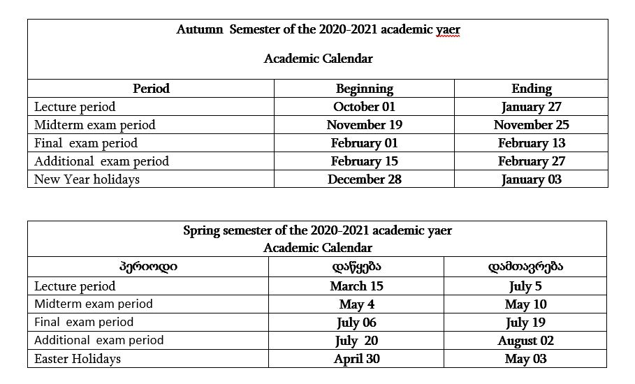 Uga Academic Calendar Spring 2022.Academic Calendar European University